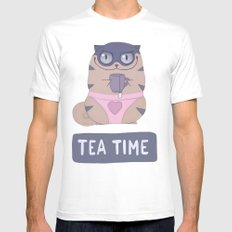 Boggart Tea Time SMALL White Mens Fitted Tee