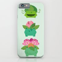 iPhone Cases featuring evolution grass poke by Manfred Maroto