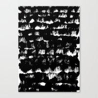 Black pattern#1 Canvas Print