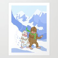 Snow Day! Art Print