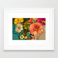 Perky Flowers! Framed Art Print