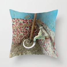 Inspiration is Flowing Throw Pillow
