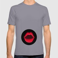 LIPS 2 Mens Fitted Tee Slate SMALL