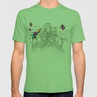 ECHOES by Peter Striffolino and Kris Tate Mens Fitted Tee Grass SMALL