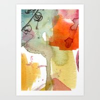 Watercolour Floral Abstr… Art Print