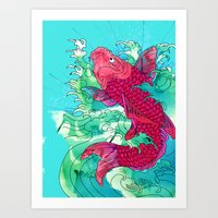 Lucky Koi Art Print