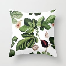 Figs White Throw Pillow