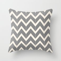 Gray & Ivory Chevron Throw Pillow
