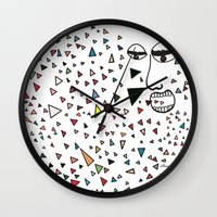 Sick of happiness Wall Clock