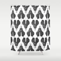 Bowie Pattern Bw Shower Curtain