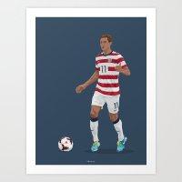 Stu Holden - Bolton Wanderers - USMNT Art Print