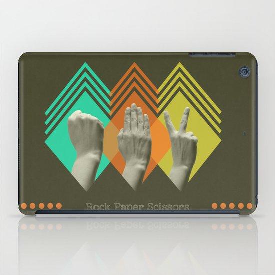 rock paper scissors iPad Case