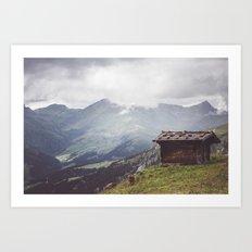 Alpine hut Art Print