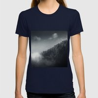 Misty Woodlands Womens Fitted Tee Navy SMALL