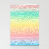 Rainbow Colours Stationery Cards