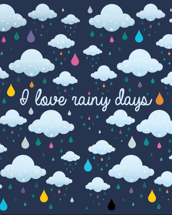 I love Rainy Days Art Print