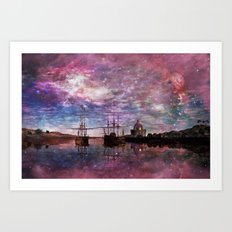 A Safe Anchorage Art Print
