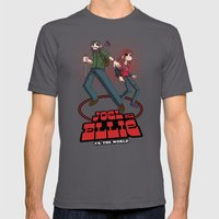 Joel and Ellie VS. the World Mens Fitted Tee Asphalt SMALL