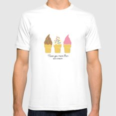 Ice Cream Addiction Mens Fitted Tee SMALL White