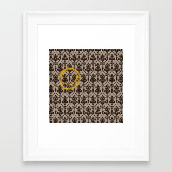 Sherlock Wallpaper Framed Art Print