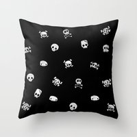 Cute Skull Throw Pillow