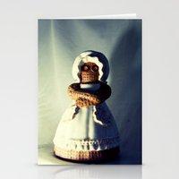 Menacing Ceramic/Burlap Horror Doll Stationery Cards