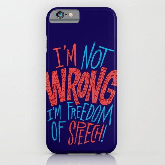 Freedom of Speech iPhone & iPod Case