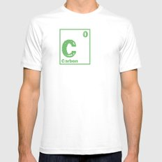 Carbon neutral White Mens Fitted Tee SMALL