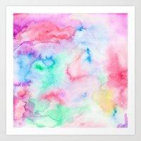 Bright Abstract Pink Blu… Art Print
