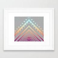 Tropical Tribal Eye Framed Art Print