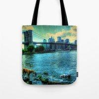 New York Brooklyn Bridge Tote Bag
