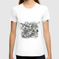 Animal Skulls Womens Fitted Tee White SMALL