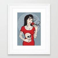 Señora Muerte Framed Art Print