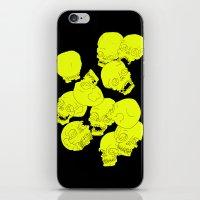 Neon Skulls iPhone & iPod Skin