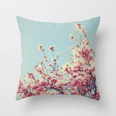 Retro Blossoms Throw Pillow