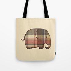 Plaid Elephant  Tote Bag