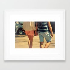 Nos creíamos libres... Framed Art Print
