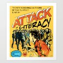 Attack of Literacy Art Print