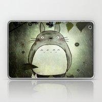 Totoro in the rain Laptop & iPad Skin