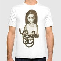 Snake Mens Fitted Tee White SMALL