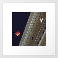 Blood Moon Over Educatio… Art Print