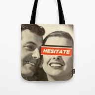 Tote Bag featuring Hesitate by Frank Moth