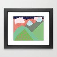 Them Hills Framed Art Print