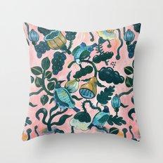 Birds on pink Throw Pillow