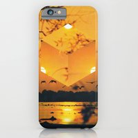 iPhone & iPod Case featuring Hexagon Sunset by Mirco Rambaldi