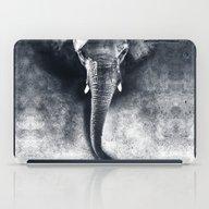 Elephant Black And White iPad Case