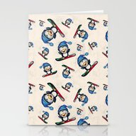 Too Cool To Penguin Stationery Cards