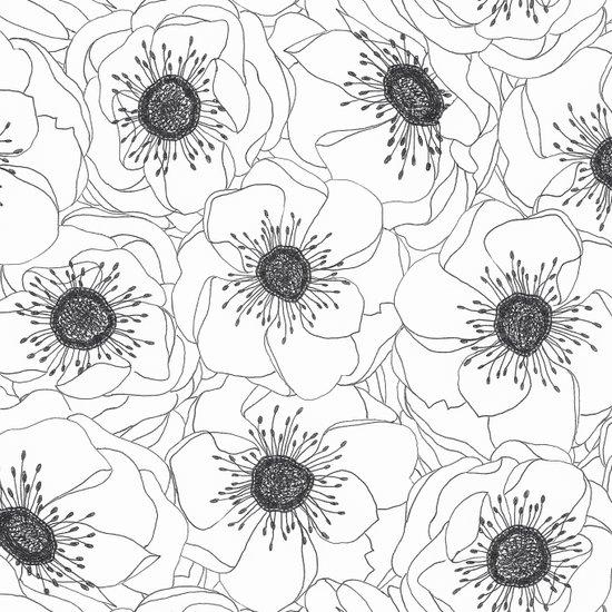White Anemones Canvas Print