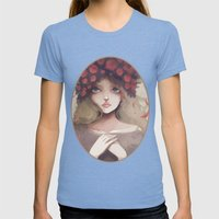 Le Grand Départ... Womens Fitted Tee Tri-Blue SMALL
