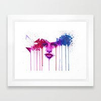 Colors of the night Framed Art Print